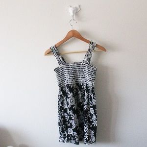 💕At Last Floral Ruched Flare Tank Top L397